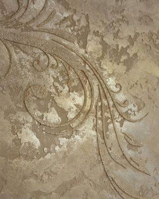 Stucco with stencil